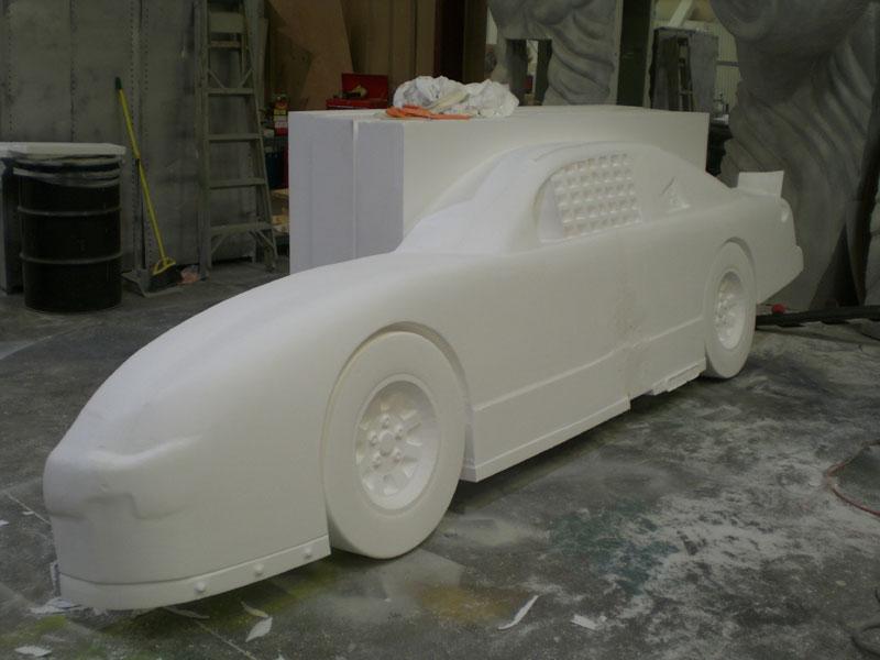 Raw Styrofoam Ready for Hardcoat